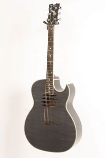 Dean Mako Dave Mustaine Acoustic Electric Guitar Trans Black
