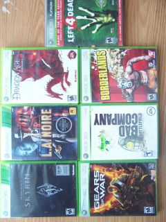 Xbox 360 Games Lot Great Games Low Price