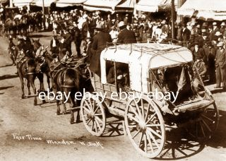 Mandan North Dakota ND Stage Coach Stagecoach Cowboy Fair Time Photo
