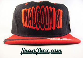 Vintage Deadstock Malcolm x Black College Hawks Snapback Hat Cap Bulls
