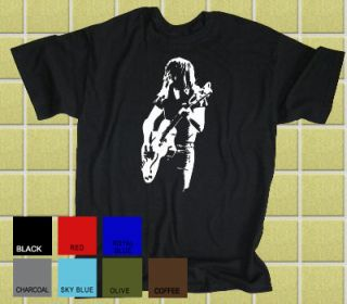Malcolm Young AC DC Retro Rock T Shirt All Sizes