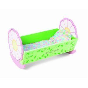 Manhattan Toy Lullaby Wooden Cradle for Baby Stella New Doll