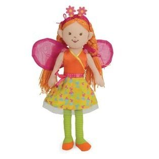 Manhattan Toy Fairy Doll Liliana Beneath the Leaf Cloth Pink Orange