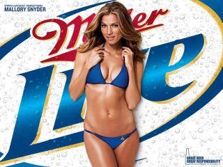Miller Lite Beer Bikini Girl Mallory Snyder Refrigerator Magnet