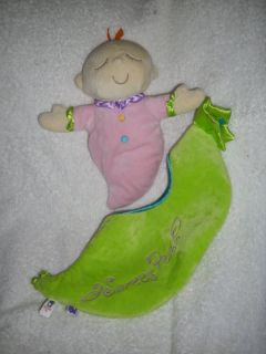 Manhattan Toy Plush Baby Doll Sweet Pea Pod EUC