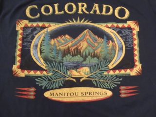 Vintage Colorado Manitou Springs T Shirt Jerzees 50 50 Large