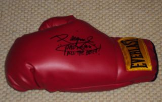 Manny Pacquiao Signed Boxing Glove Everlast Pacman COA