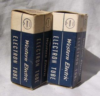 Matched Pair of Western Electric 417A Tubes in Boxes