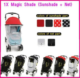 Manito Magic Mosquito Net Sun shade for baby stroller pushchair canopy