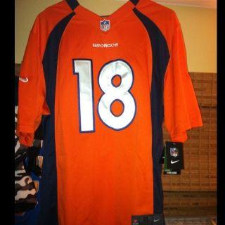 Nike Peyton Manning #18 Orange Denver Broncos NFL Jersey MENS XL NEW
