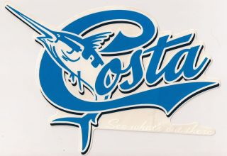 Costa Del Mar Sunglasses Blue Marlin Decals Stickers