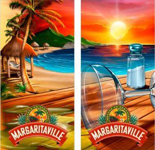 Margaritaville Cornhole Bag Toss Baggo Graphic Decals