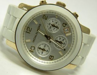 Authentic Michael Kors Womens Watch MK5145 White Goldtone