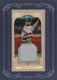 MARIANO RIVERA 2012 TOPPS GYPSY QUEEN MINI RELIC GAME USED WORN JERSEY