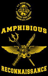 Marine Corps Combatant Diver School Panama City FL USMC Recon Shirt