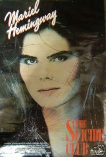 Suicide Club Movie Promo Poster 1988 Mariel Hemingway