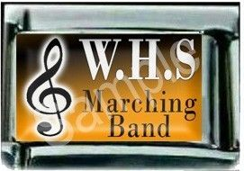 Marching Band Italian Charm Custom School Colors Init
