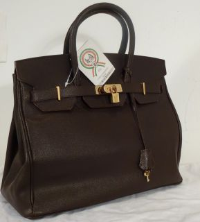 Carta DIdentita Della Brown Leather Handbag