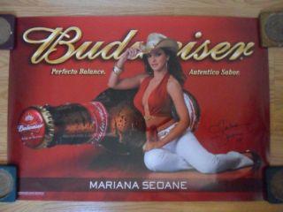 Sexy Girl Beer Poster Budweiser Mariana Seoane Cowgirl