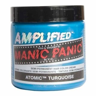 MANIC PANIC AMPLIFIED Semi Permanent Hair Dye Color ATOMIC TURQUOISE
