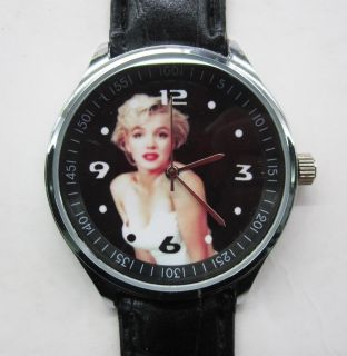Marilyn Monroe Leather Strap Watch New