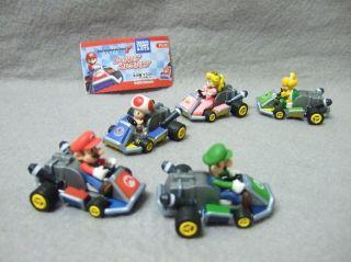 Japan Takara Tomy Nintendo Mario Kart 7 Characters Figures Pull Back
