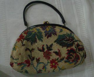 Vintage Fashions by Margolin Carpet Bag Purse Handbag