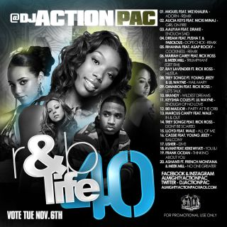 Action Pac R B Life 40 Mix CD Dream Rihanna Mariah Carey Brandy