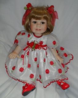 Organza Porcelain Collectible Toddler Doll Marie Osmond