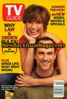 TV Guide 6 03 Mariska Hargitay Christopher Meloni Law Order SVU New