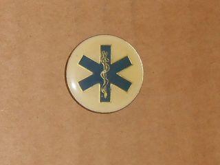R147 VINTAGE METAL PINBACK PARAMEDIC EMT NURSE DOCTOR ENAMEL TIE TACK