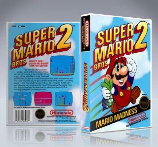 Nintendo NES Game Case Super Mario Bros 2 New Collectors Box