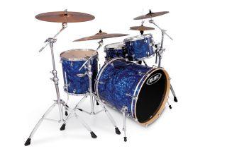 Mapex Pro M Liquid Blue Pearl 4 Piece Drum Set 22x20 12 16 14x7