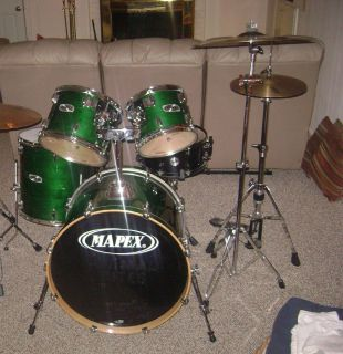 Mapex M Series Shell Kit Emerald Green Wood