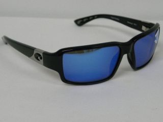 Costa Del Mar 400 Peninsula Black Blue Mirror PN 11 $200 Polarized