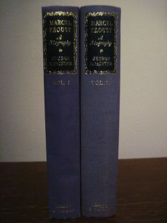 Marcel Proust George Painter Set 2V Illustrated Biography 1st Edition