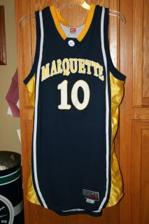 Marquette Golden Eagles Game issued Basketball Jersey Sz 46