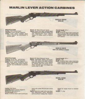 1992 Marlin Ad Model 1895 336 444 Lever Action Rifle