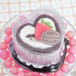 50 Love Is Sweet Towel Cake Wedding Bridal Favor