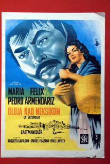 La Escondida Maria Felix Pedro Armendariz 1956 RARE EXYU Movie Poster