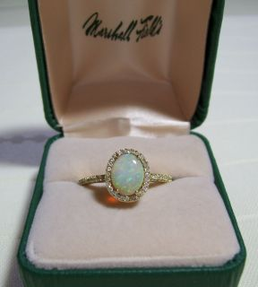 and Diamond 14kt Yellow Gold Ring Size 9 1 2 Marshall FieldS