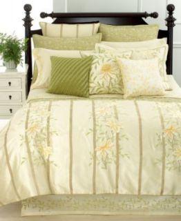 Martha Stewart Veranda Vines Embroidered Queen Sheet Set Greenish