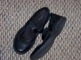 Womens Croft Barrow Rebah Black Leather Mary Jane Flats Shoes Size 8 1