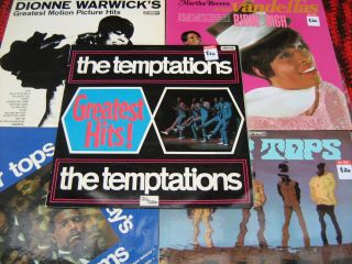 ~Four Tops~Temptations~Martha Reeves & Vandellas~Dionne Warwick~VG++