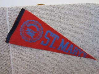 St Marys College Vintage Souvenir Felt Pennant