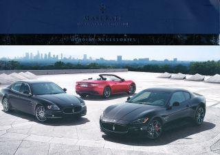 Maserati Accessories 106 Page Brochure Book Quattroporte Granturismo