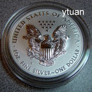 Silver Eagle Reverse Proof Coin s Mint Mark from San Francisco