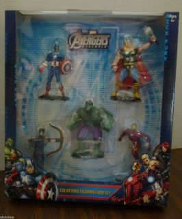 Marvel Avengers Figures Hulk Iron Man Captain America Thor Hawkeye NIP