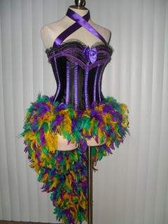 Rouge New Orleans Show Girl Burlesque Masquerade Costume Dress