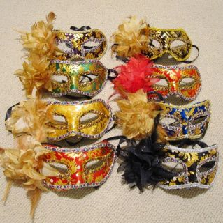 Flower Embroider Cosplay Venetian Masquerade Party Mask